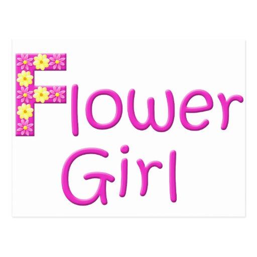 flower girl post card