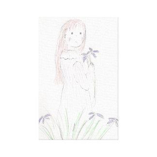 Flower Girl Print Canvas Prints