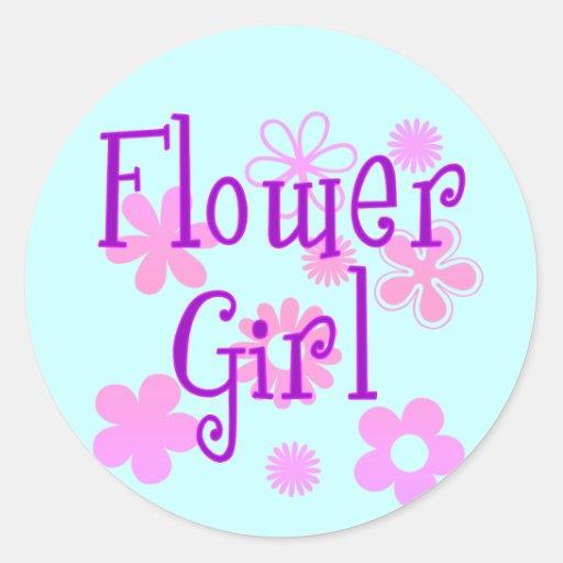 Flower Girl Products Round Sticker