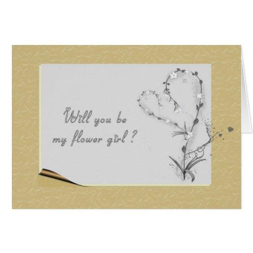 Flower Girl Request Card