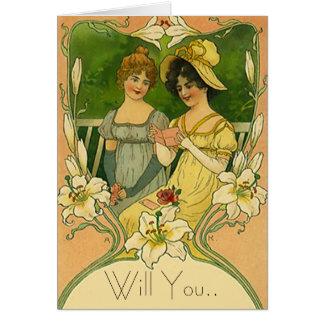 Flower Girl Request Card Cards Invite Invitation