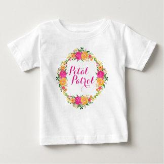 Flower Girl Shirt Petal Patrol shirt Floral Wreath