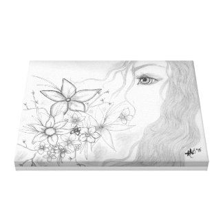 Flower Girl Stretched Canvas Print