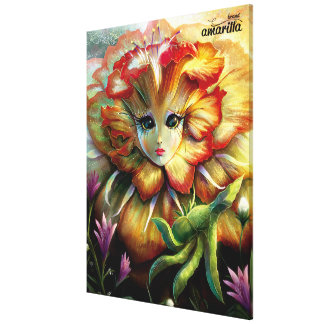 Flower Girl Stretched Canvas Prints