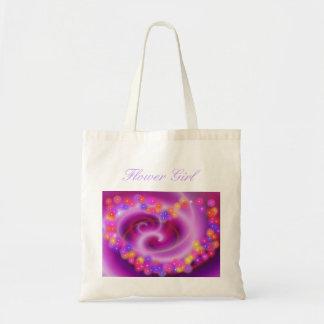Flower Girl Swirly Heart Bag