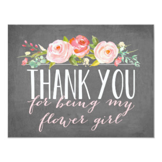 Flower Girl Thank You | Bridesmaid 11 Cm X 14 Cm Invitation Card