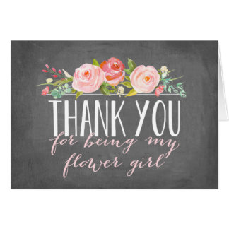 Flower Girl Thank You | Bridesmaid Note Card