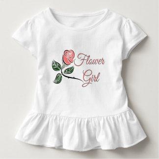 Flower Girl Toddler Ruffle Wedding T- Dress
