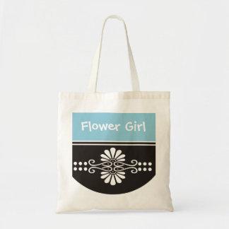 Flower Girl Tote Bag - Blue