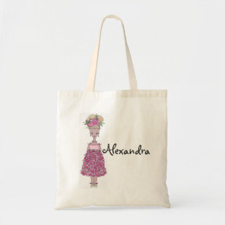 Flower Girl Tote Bag - Personalize Alexandra