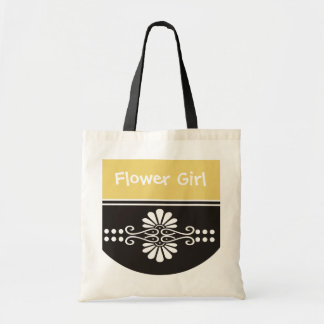 Flower Girl Tote Bag - Yellow