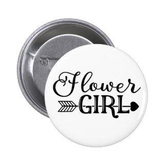 Flower Girl, Tribe Arrow, Wedding Party 6 Cm Round Badge
