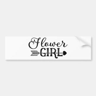 Flower Girl, Tribe Arrow, Wedding Party Bumper Sticker