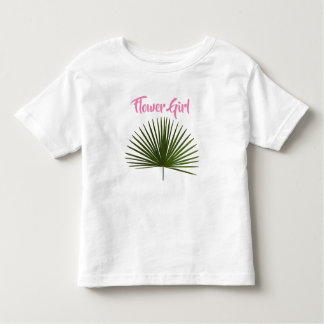 Flower Girl Tropical Palm Frond Leaf Wedding Toddler T-Shirt