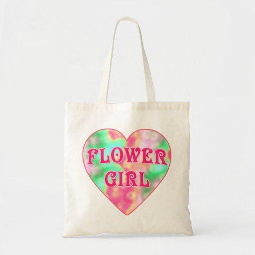 Flower Girl Tshirt with Big Heart Tote Bag