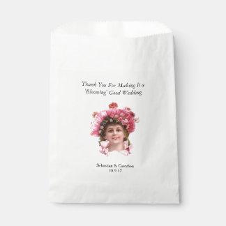 Flower Girl VINTAGE WEDDING FAVOR Personalise Favour Bags