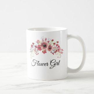 Flower Girl Watercolor Pink  Flower Bouquet Mug