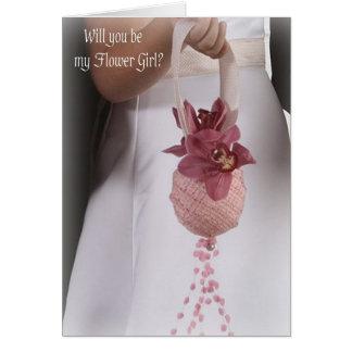Flower Girl Wedding Invitation Cards