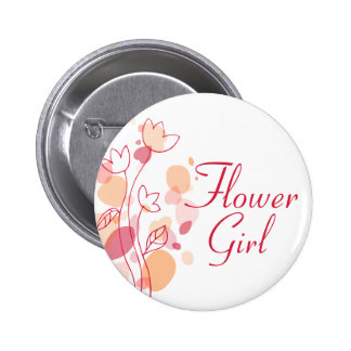 Flower girl wedding pin / button