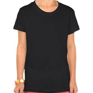 Flower Girl White on Black T Shirts