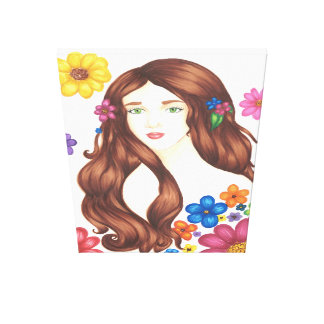 """Flower Girl Wrapped Canvas (32"""" x 48"""") Canvas Prints"""