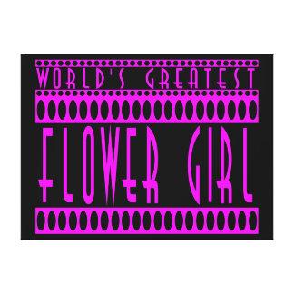 Flower Girls Gifts World s Greatest Flower Girl Canvas Print