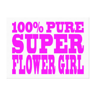 Flower Girls Pink Super Flower Girl Stretched Canvas Prints