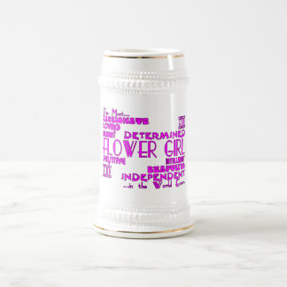 Flower Girls Thank You Wedding Favors : Qualities Beer Steins