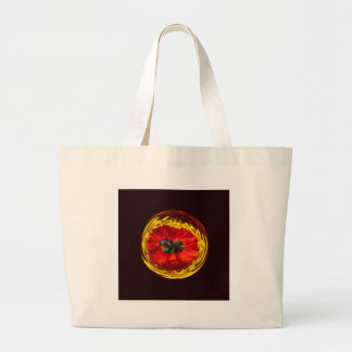 Flower globe in red and yellow bags