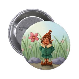 flower gnome garden pins