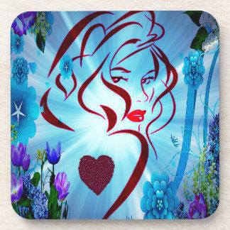 Flower Godess.png Beverage Coaster
