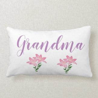 flower grandma lumbar cushion