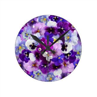 Flower Graphic Round Clock