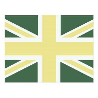 Flower Green Classic Union Jack British(UK) Flag Postcards