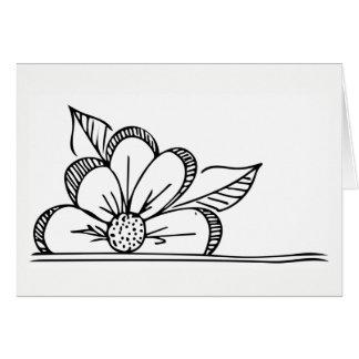 Flower Greeting Card - Blank Inside