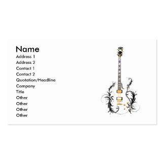 Flower guitar business card templates