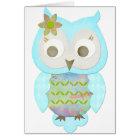 Flower Gypsy Owl Card