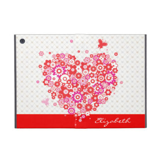 Flower Heart 1 Powiscase Options iPad Mini Case