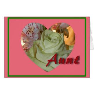 Flower Heart Aunt Valentine's Day Card