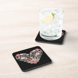 Flower Heart Beverage Coaster