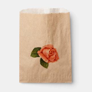 FLOWER HEART CARTOON  bag Kraft Favor