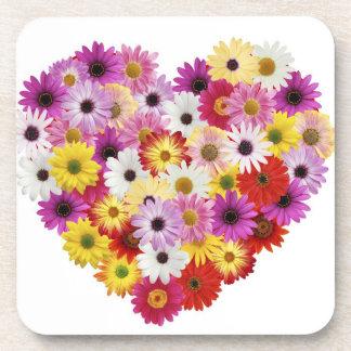 Flower Heart Coasters