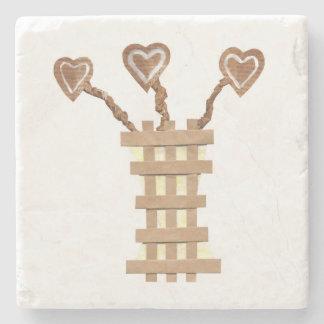 Flower Heart Marble Coaster Stone Coaster