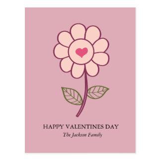 flower heart postcard