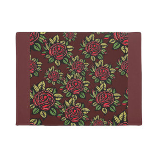 Flower Illustrated doormat