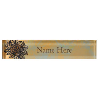 Flower Illustration Nameplate