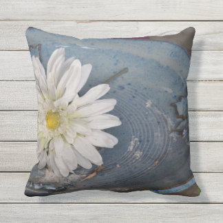 Flower in a Bird Bath Cushion