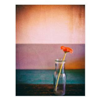 Flower in a bottle postcard