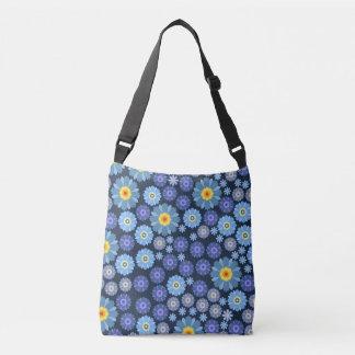 Flower in Blue Crossbody Bag