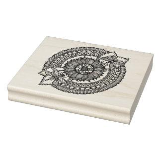 Flower In Mandala Rubber Stamp